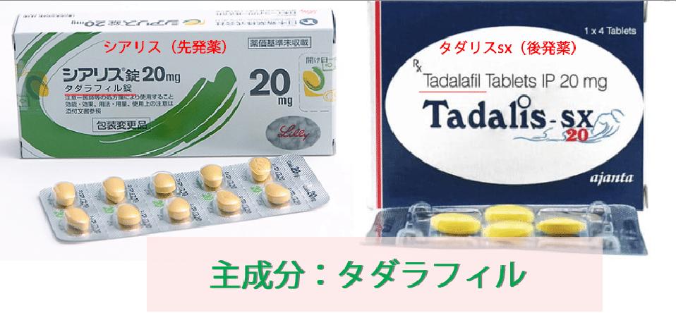 タダリスsxはシリアスと同成分
